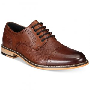 Bar III Men's Parker Leather Cap-Toe Brogues