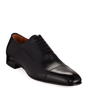 Christian Louboutin Greggo Men's Lace-Up Leather Dress Shoes