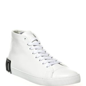 Moschino Men's Logo Leather High-Top Sneakers